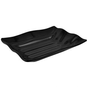 Блюдо для выкладки ВОЛНА L 28см w 21см h 6см, пластик черный