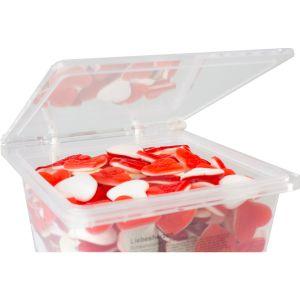 Крышка пластиковая прозрачная многоразовая д/коробки с конфетами