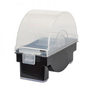 Диспенсер для этикеток диаметром 25-50мм 1 отделение пластик черный