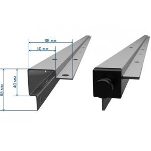 Стойки для стеллажа разборного, H1.80м, нерж.сталь 430, гнутый профиль 65х65мм, комплект 4шт.