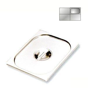 Крышка для гастроемкости GN1/4, нерж.сталь (Уценённое)