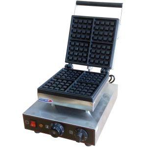 """Вафельница электрическая настольная для вафель """"бельгийских"""", 1 поверхность квадратная чугун, 4 сегмента, упр.электромех., таймер (Для выдачи на тест)"""