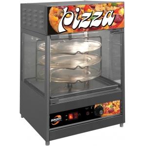 Витрина тепловая настольная, вертикальная, для пиццы, L0.41м, 3 полки, нерж.сталь, подсветка