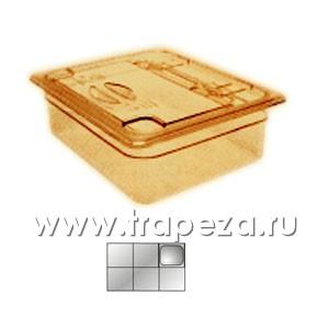 Крышка для гастроемкости GN1/6 с ручк. и вырезом H-PAN, поликарбонат