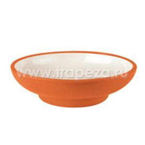 Чаша для суши D 14см h 3,9см, пластик оранжевый-белый