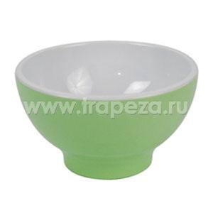 Чаша D 13,8см 0,52л, пластик зеленый-белый