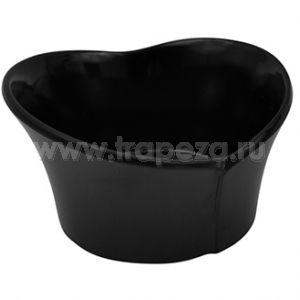 Чаша TULIPA L 8,6см w 7,7см h 0,5см 0,05л, пластик черный