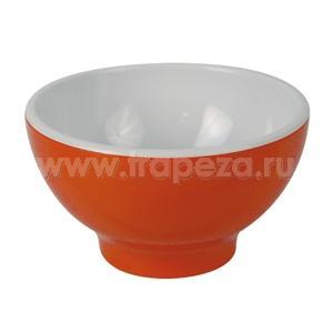 Чаша D 13,8см 0,52л, пластик оранжевый-белый