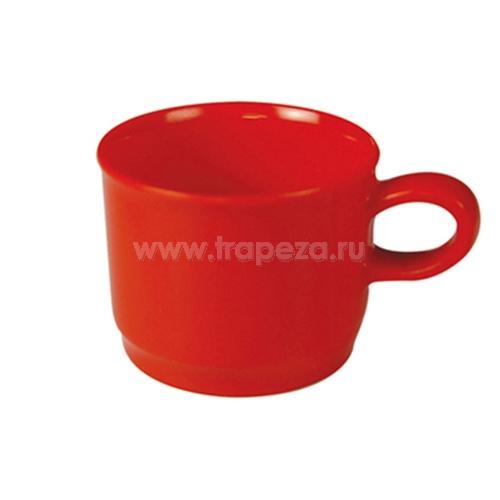 Чашка PRIMARY D 6см h 8см, пластик красный