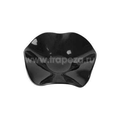 Блюдо для выкладки ВОЛНА D 32см h 8см, пластик черный