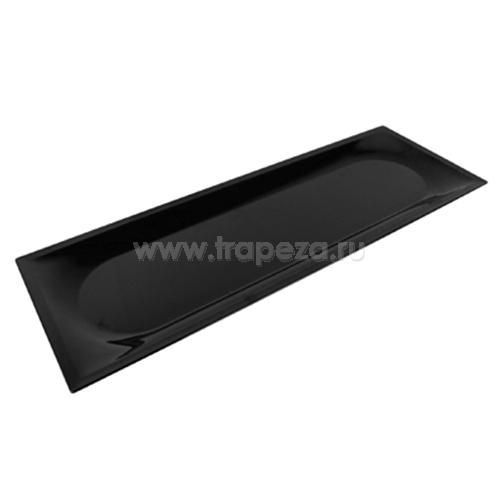 Блюдо для выкладки ZEST L 75см w 26,5см h 3см, пластик черный