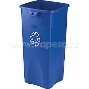 Контейнер для мусора L 41,9см w 39,4см h 78,8см 87л, полиэтилен синий