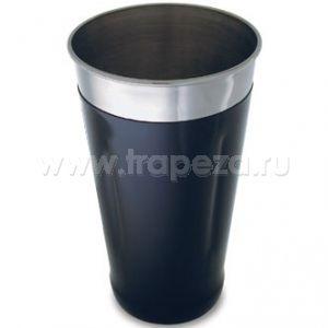 Шейкер 830мл с черным виниловым покрытием, нерж.сталь