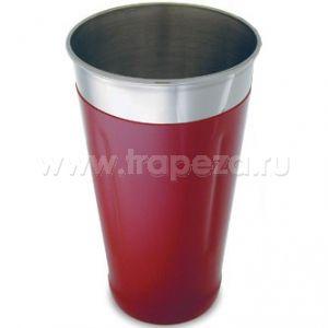 Шейкер 830мл с красным виниловым покрытием, нерж.сталь