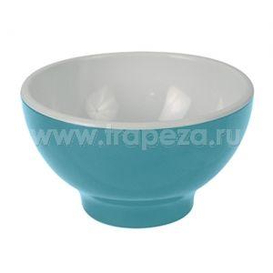 Чаша D 13,8см 0,52л, пластик голубой-белый