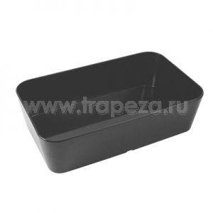 Лоток для выкладки L 25см w 15см h 7см, пластик черный