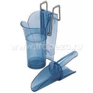 Совок для льда, 0.18-0.30л, поликарбонат, держатель с колбой